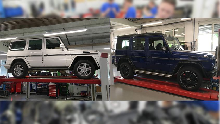 Aus alt mach neu – unsere Lehrlinge restaurieren eine Mercedes-Benz G-Klasse